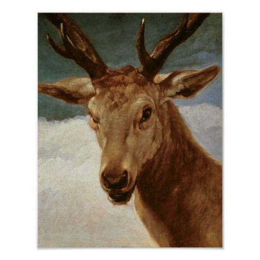 Head of a Stag, 1634 Poster