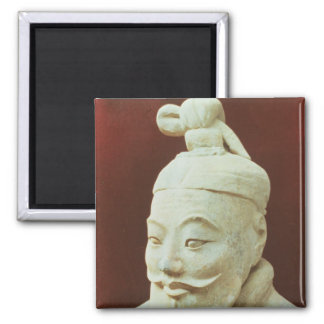 Head of a warrior, Terracotta Army Square Magnet