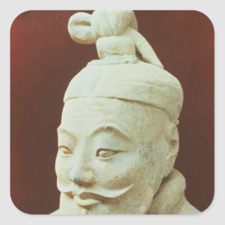Head of a warrior, Terracotta Army Square Sticker
