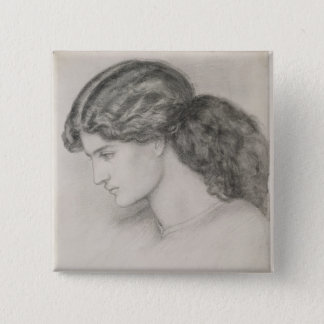 Head of a Woman, 1861 (pencil on paper) 15 Cm Square Badge