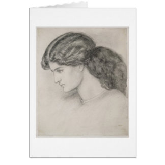 Head of a Woman, 1861 (pencil on paper) Cards