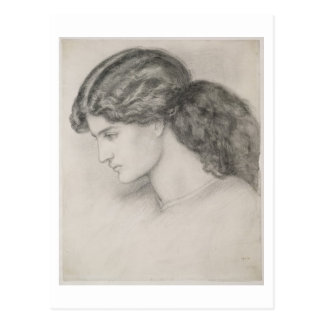 Head of a Woman, 1861 (pencil on paper) Postcard
