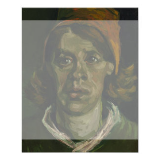 Head of a Woman by Vincent Van Gogh 11.5 Cm X 14 Cm Flyer