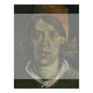 Head of a Woman by Vincent Van Gogh Full Color Flyer
