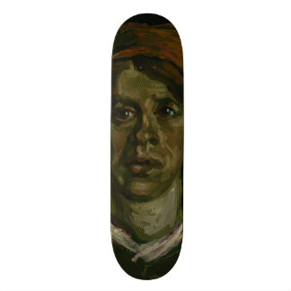 Head of a Woman by Vincent Van Gogh 19.7 Cm Skateboard Deck