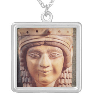 Head of a Woman, called the Lady of the Well Silver Plated Necklace