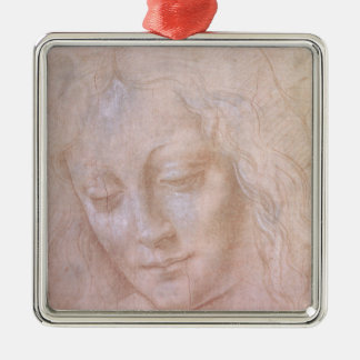 Head of a woman christmas ornament