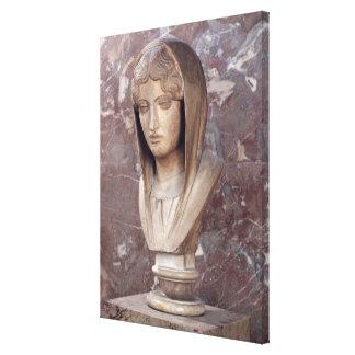 Head of a woman known as Aspasia of Miletos Canvas Prints