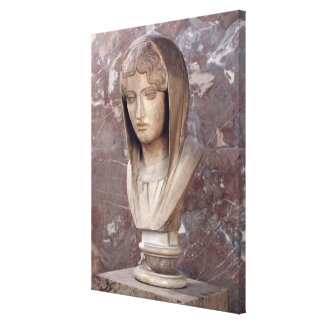 Head of a woman known as Aspasia of Miletos Stretched Canvas Print
