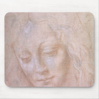 Head of a woman mouse mat