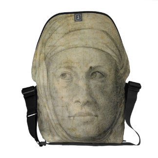 Head of a Woman (pencil on paper) Courier Bags