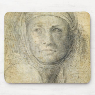 Head of a Woman (pencil on paper) Mouse Mat