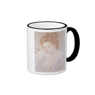 Head of a Young Girl 2 Ringer Coffee Mug
