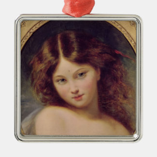 Head of a Young Girl Christmas Ornament