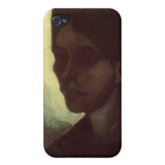 Head of a Young Peasant Woman by van Gogh Cases For iPhone 4