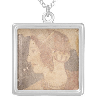 Head of a Young Woman, Velia Silver Plated Necklace
