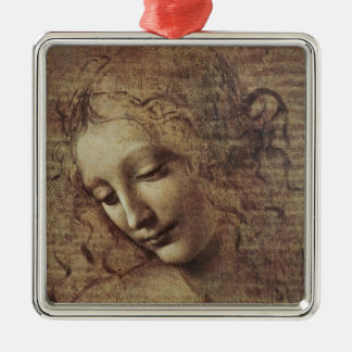 Head of a Young Woman with Tousled Hair or, Leda Christmas Ornament