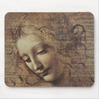 Head of a Young Woman with Tousled Hair or, Leda Mouse Pad