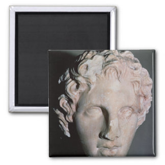 Head of Alexander the Great Square Magnet