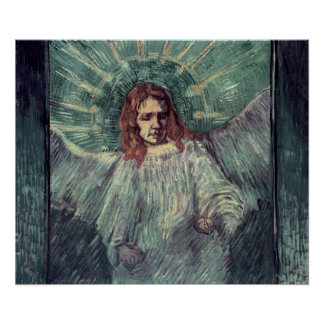 Head of an Angel, after Rembrandt, 1889 Poster