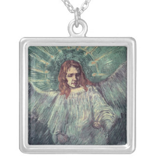 Head of an Angel, after Rembrandt, 1889 Silver Plated Necklace