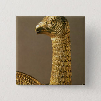 Head of an eagle, detail of 12th century ornamenta 15 cm square badge