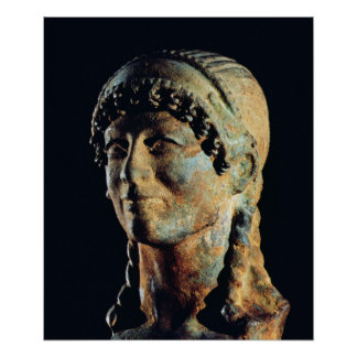 Head of an Etruscan Woman Poster