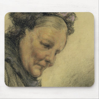 Head of an Old Lady Mouse Mat