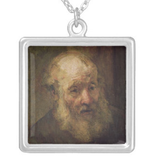 Head of an Old Man, c.1650 Silver Plated Necklace