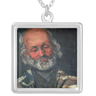 Head of an Old Man, c.1866 Silver Plated Necklace