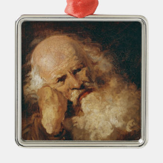 Head of an Old Man Christmas Ornament