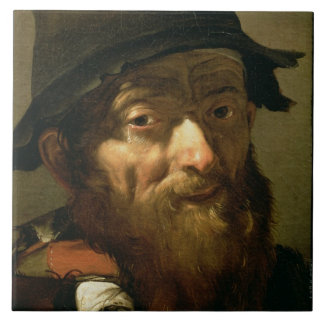 Head of an Old Man, detail of Portrait of an Old M Tile