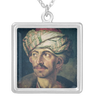 Head of an Oriental Silver Plated Necklace
