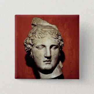Head of Apollo from Ephesus 15 Cm Square Badge