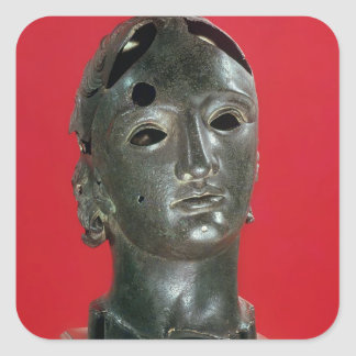Head of Apollo from Nimes 1st-2nd century Square Stickers