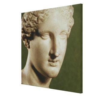 Head of Artemis Canvas Print