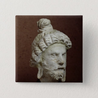 Head of Brahma, Afghanistan, 2nd-4th century 15 Cm Square Badge