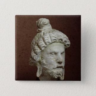Head of Brahma, Afghanistan, 2nd-4th century 15 Cm Square Badge