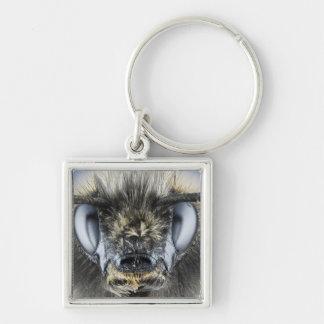 Head of bumblebee key ring
