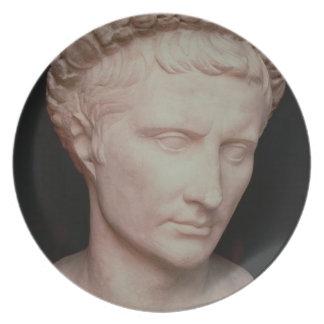 Head of Caesar Augustus Plate