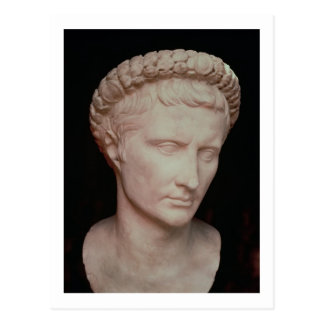 Head of Caesar Augustus Postcard