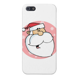 Head of Cartoon Santa Claus Cover For iPhone 5