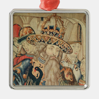 Head of Charlemagne , Tournai workshop Christmas Ornament