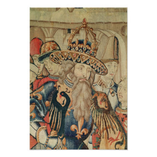 Head of Charlemagne , Tournai workshop Poster
