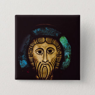 Head of Christ 15 Cm Square Badge