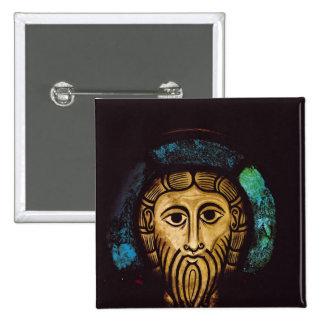 Head of Christ 15 Cm Square Badge
