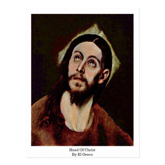 Head Of Christ By El Greco Postcard