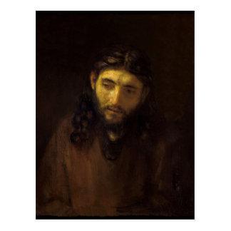 Head-of-Christ-Rembrandt harmensz van rijn 1648-56 Postcard