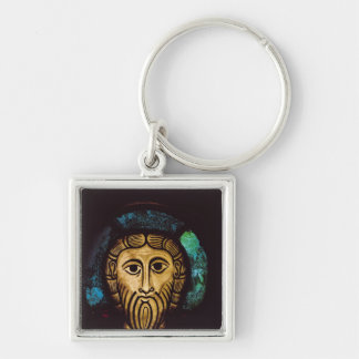 Head of Christ Silver-Colored Square Key Ring