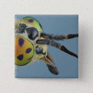 Head of deer fly 15 cm square badge